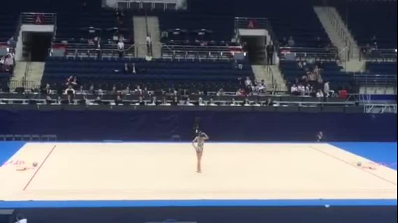 Дарья Трубникова - булавы (многоборье) Тестовые соревнования Европейских Игр 2019, Минск