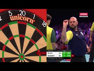 Brazil vs Sweden (PDC World Cup of Darts 2019 / Round 1)