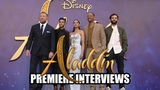 Disney's ALADDIN - UK Premiere Interviews - Will Smith, Naomi Scott, Mena Massoud, Marwan Kenzari