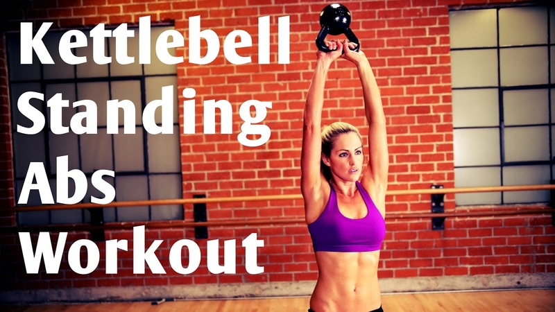 10 Minute Kettlebell Standing Abs No Crunch/No Plank Workout