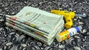 2 DIY creative ideas with newspapers/DIY Newspaper craft