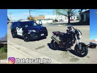 Only cool cop in this video. сool cop vs bikers