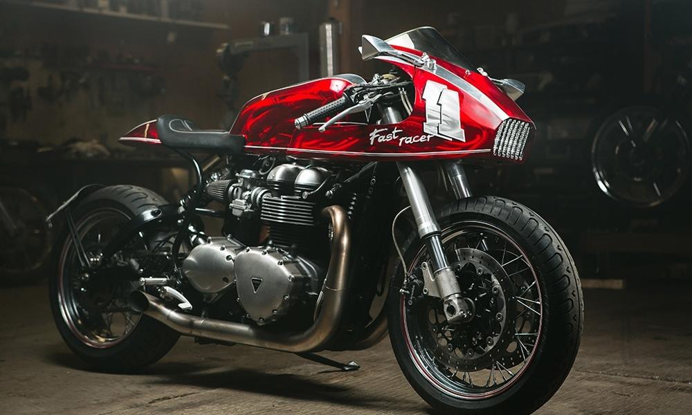 Timokhin Custom Design: кафе рейсер Triumph Thruxton 900 Fast Racer