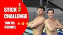 STICK CHALLENGE with Spicy Consequences 🔥🌶 Ft Rommel Pacheco I Tom Daley