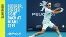 Highlights Federer Ferrer Fight Back In Miami