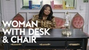 How To Be a Classy Lady: A Lesson From Octavia Spencer | Woman with Desk and Chair | InStyle