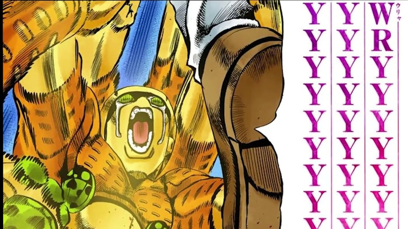 (manga spoilers) Giornos Huge Beatdown w Il Vento DOro Anime MUDAs 7ページ無駄無駄 (BGM小野賢章 Ver.)