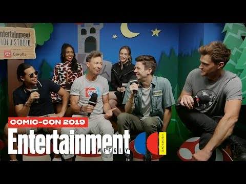 'The Flash' Stars Grant Gustin, Danielle Panabaker Cast LIVE | SDCC 2019 | Entertainment Weekly