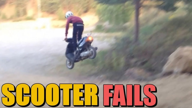 Mopeds Gon Wild Compilation - Hilarious SCOOTER Fails