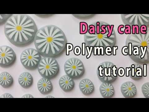 데이지꽃 만들기 폴리머클레이 강좌 How to make daisy cane Polymer clay tutorial