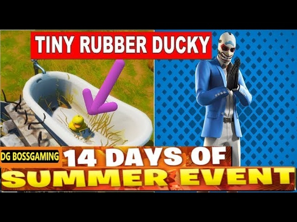 Search The Tiny Rubber Ducky At The Spot Hidden In The Summer Splashdown Loading Screen FORTNITE