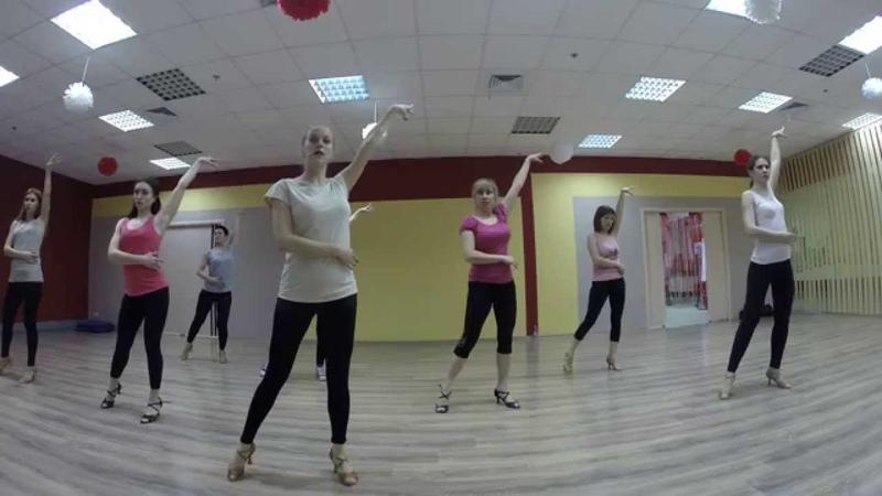 Бачата урок3 Женская стилистика группа Юлии Тюриной Dance Center