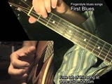 First Blues - guitar lesson + TAB! acoustic fingerstyle Blues song, Learn how to play