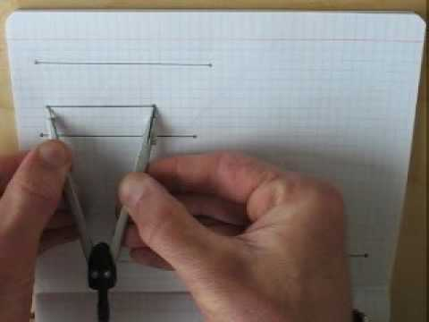 Построение треугольника по трём сторонам быстрое повторение