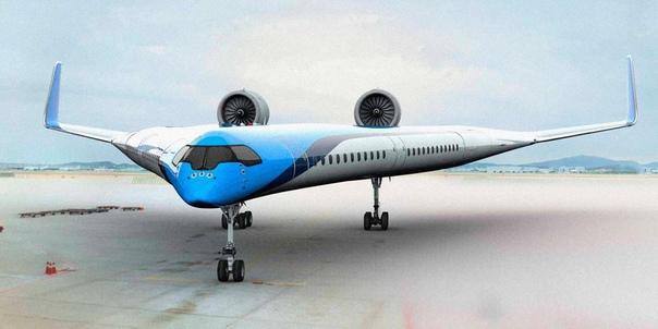 Экспериментальный самолет из Голландии с пассажирами в крыльях Концепт Flying-V совместный проект ведущего голландского авиаперевозчика компании LM и Делфтского технического университета (TU