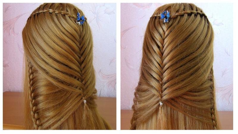 TUTO 🌻 Belle coiffure facile à faire cheveux longs tresse cascade 🌻 Coiffure pour fille