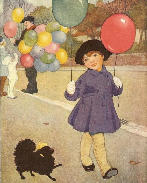 Картинках, открытка ребенок на шарике