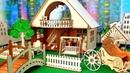 Деревянный домик и незваный гость