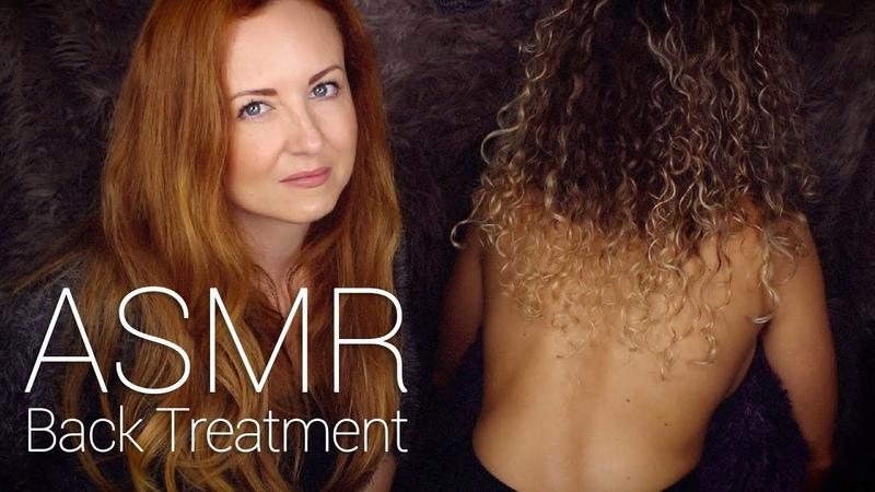 ASMR Back Tracing w/ Scratch, Brushing, Buds Oil Massage