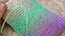 ВЯЗАНИЕ С ГРАДИЕНТОМ переходом цвета. Как связать градиент спицами. Вязание разными нитками.