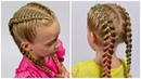 How to: Double Dutch Braids Simple with Ribbon I Boxer Braids (Easy hairstyles 18) LittleGirlHair