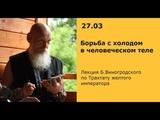 Б.Виногродский: лекция «Борьба с холодом в человеческом теле» по Трактату Желтого императора
