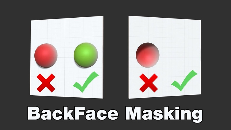 How To Use Backface Masking In ZBrush