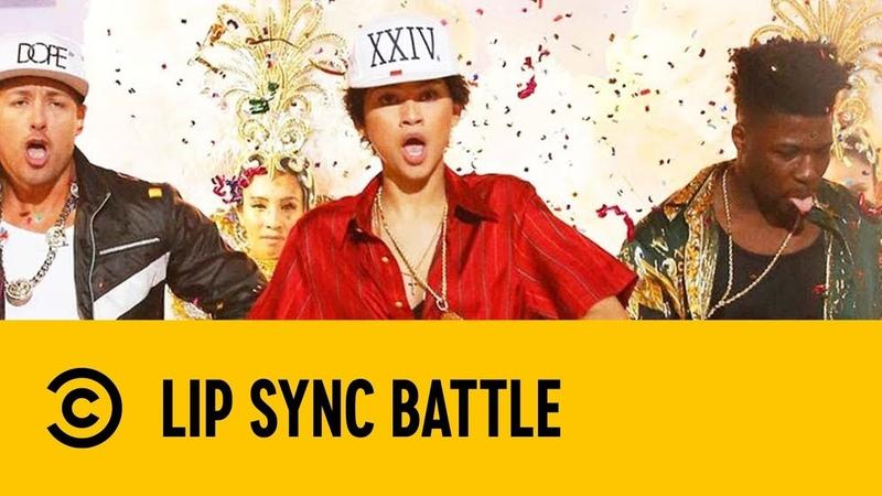 Zendaya Performs Bruno Mars' 24k Magic Lip Sync Battle