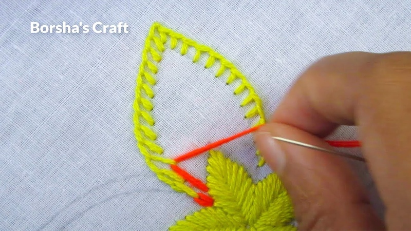 Hand Embroidery Easy Flower Embroidery Whipped spiderweb Stitch