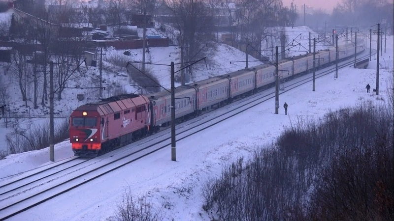ТЭП70БС-172 с поездом Калининград - СПб / TEP70BS-172 with a passenger train
