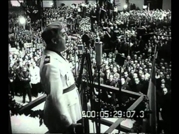 Il discorso del Generalissimo Franco nel V annuale della Rivoluzione e Festa del lavoro