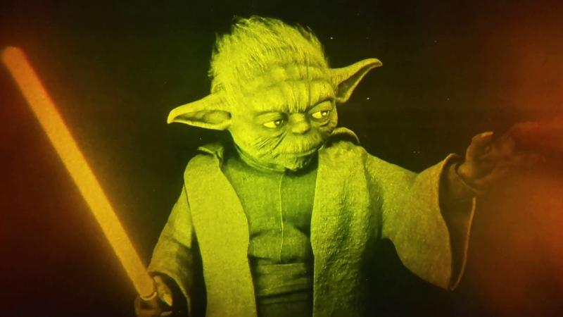 11x8 Star Wars Master Yoda True 3D Laser Hologram Picture