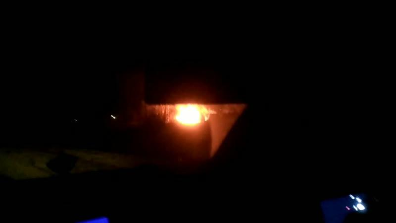 Пожар в гаревой