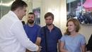 Как одесситы встречают Саакашвили