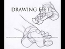 Drawing Art Anatomy Drawing feet and geometric simplification special subscribe video
