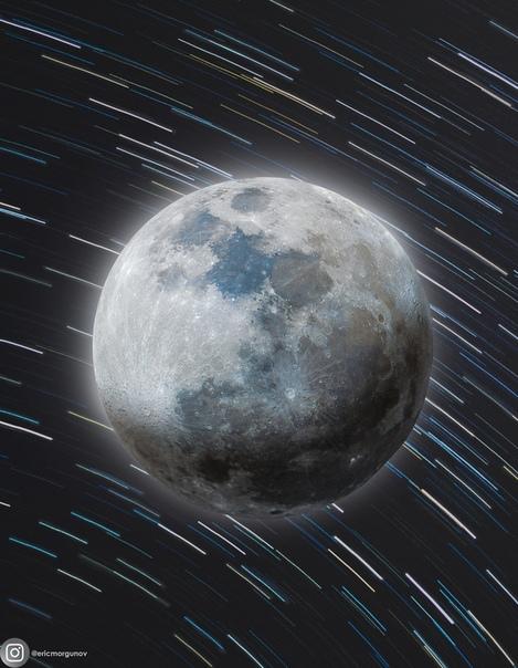 52-мегапиксельная фотография Луны, сложенная из 500 кадров