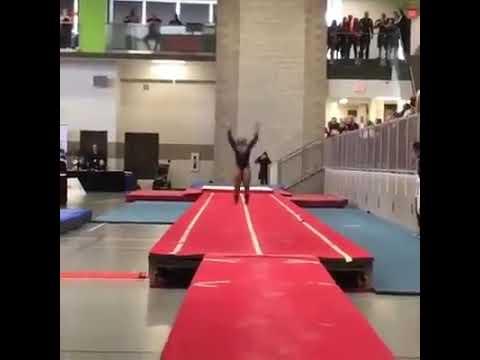 Sexy Gymnast Kills Flips😯😯 - YouTube