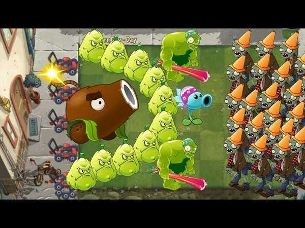 Zoybean Pod vs Coconut Cannon vs Snow Pea vs Squash Pvz 2