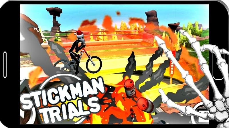 ВЕЛОГОНКИ С ПРОКАЧКОЙ И КАСТОМИЗАЦИЕЙ 🔥 ► Stickman Trials мобильные игры