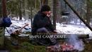 Solo Winter Hike - Quick Bushcraft Pot Hanger - Woodsman Cooking - Axe Work