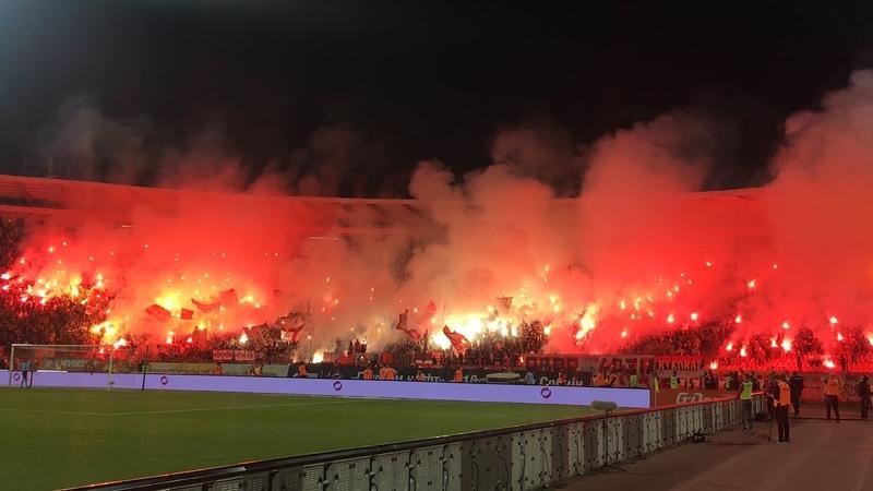 Delije Velika bakljada Gori Marakana 160 veciti derbi Crvena zvezda Partizan 2 1