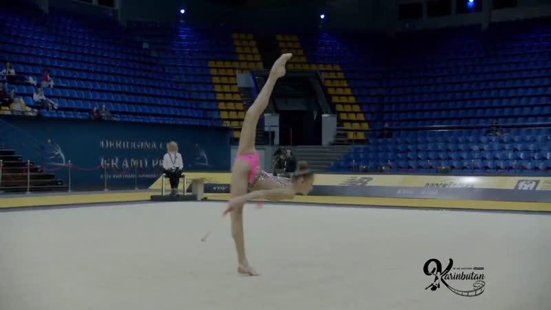 Анастасия Симакова - булавы (командное многоборье) Deriugina Cup 2019