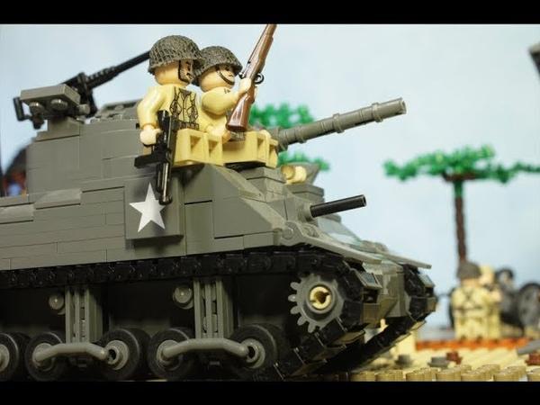 ЛЕГО БИТВА у Поместья Брекур WW2 День Д высадка в Нормандии Братья по оружию 3