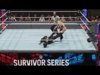 WWE 2k19 Mandy Rose (Bikini Outfit) vs. R-Truth Intergender wrestling Ryona
