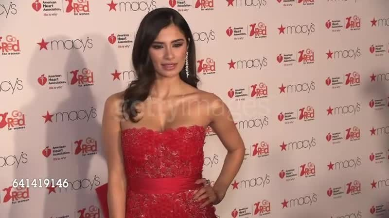 Diane Guerrero at The American Heart Association's Go Red For Women Red Dress Collection 2017 Presented By Macy's