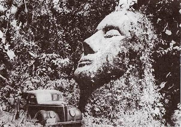 Загадка каменной головы в Гватемале.
