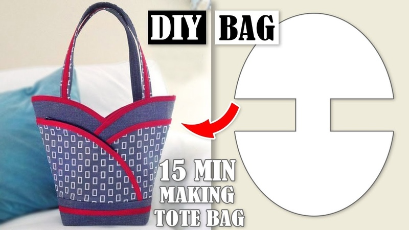 DIY MOST POPULAR DESIGN HANDBAG TUTORIAL Tote Bag In 10 Min Sewing Easy Step by Step