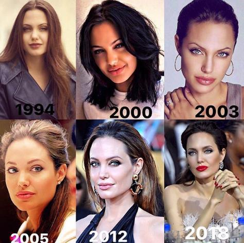 Вот так менялась Анджелина Джоли!