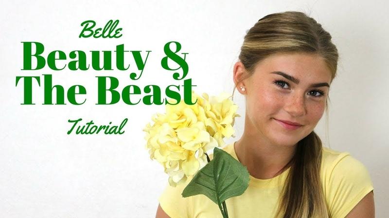 Emma Watson Belle Hair Makeup Tutorial   Beauty the Beast 🌹