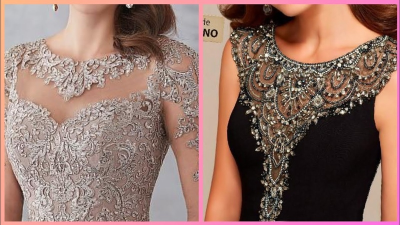Gorgeous stunning beads embroidery evening dresses for womens 2019party wear outfits